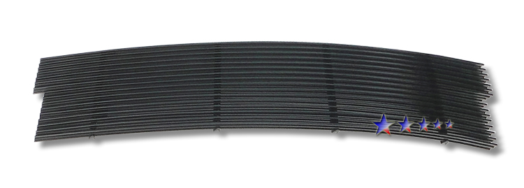 1997-1998 Ford Super Duty F-250 Light Black Powder Coated Black Aluminum Billet Grille - Main Upper