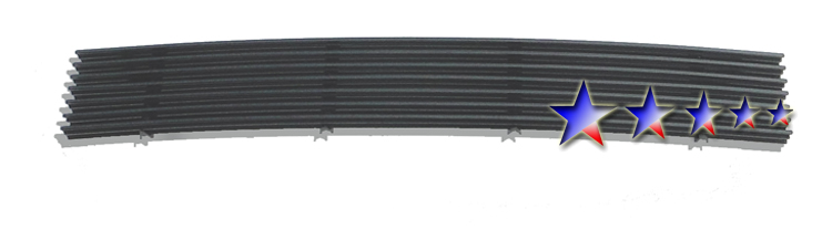 Ford F150 4wd 1997-1998 Black Powder Coated Lower Bumper Black Aluminum Billet Grille