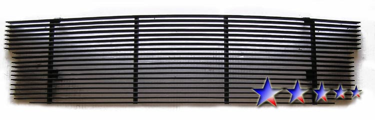 Ford F150 Lightning 1999-2003 Black Powder Coated Main Upper Black Aluminum Billet Grille