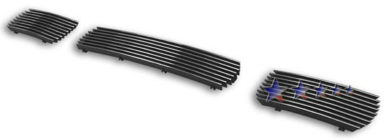 Ford Super Duty  1999-2004 Polished Lower Bumper Aluminum Billet Grille