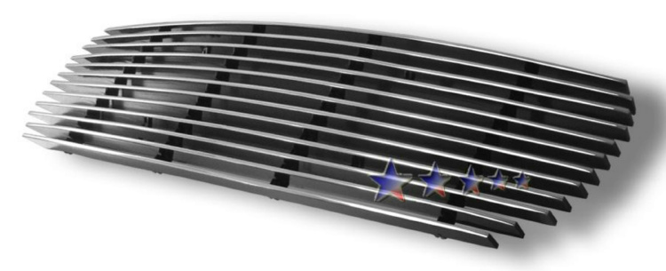 Ford Explorer Sport Trac  2001-2005 Black Powder Coated Lower Bumper Black Aluminum Billet Grille