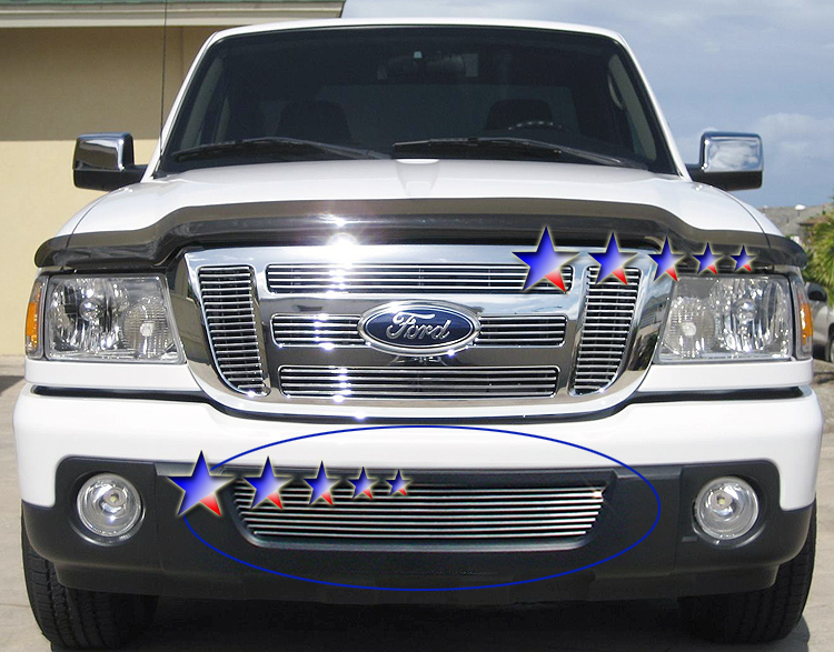 Ford Ranger  2006-2012 Polished Lower Bumper Aluminum Billet Grille