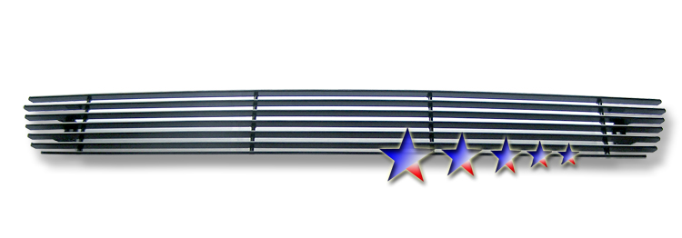 Ford F150  2004-2005 Black Powder Coated Lower Bumper Black Aluminum Billet Grille