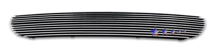 Ford F150 Lightning 1999-2003 Black Powder Coated Lower Bumper Black Aluminum Billet Grille