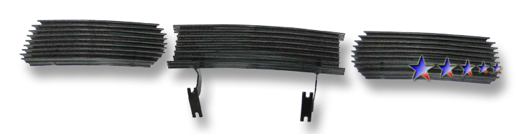 Ford Super Duty  1999-2004 Black Powder Coated Lower Bumper Black Aluminum Billet Grille