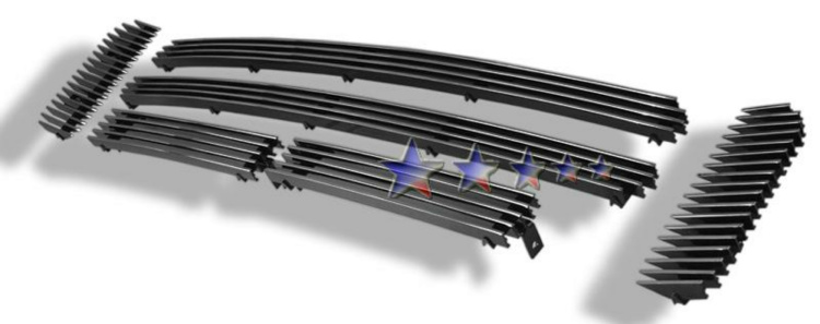 Ford Excursion  2000-2004 Polished Main Upper Stainless Steel Billet Grille