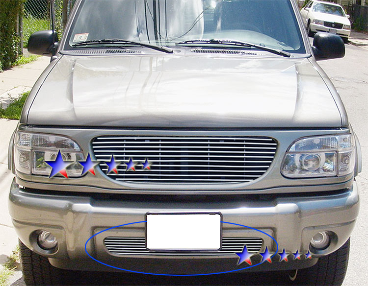 Ford Explorer  1999-2001 Polished Lower Bumper Stainless Steel Billet Grille