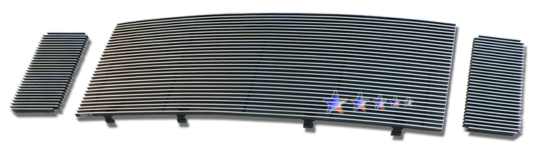 Ford Super Duty  2008-2010 Black Powder Coated Main Upper Black Aluminum Billet Grille