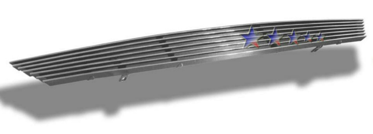 Ford Focus  2001-2004 Polished Main Upper Stainless Steel Billet Grille