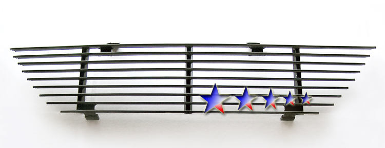 Ford Mustang  1999-2004 Black Powder Coated Main Upper Black Aluminum Billet Grille