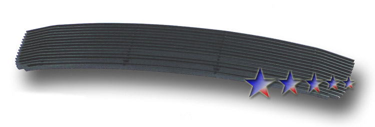 Ford Fusion  2006-2009 Black Powder Coated Lower Bumper Black Aluminum Billet Grille