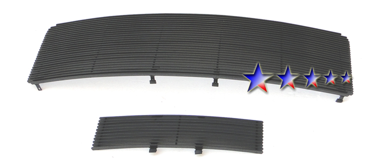 Ford F150  2009-2012 Black Powder Coated Main Upper + Lower Bumper Black Aluminum Billet Grille