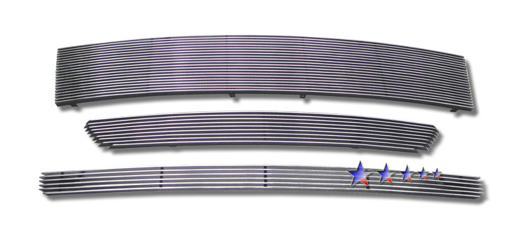 Ford Edge  2007-2010 Polished Main Upper+top Bumper+lower Bumper Aluminum Billet Grille