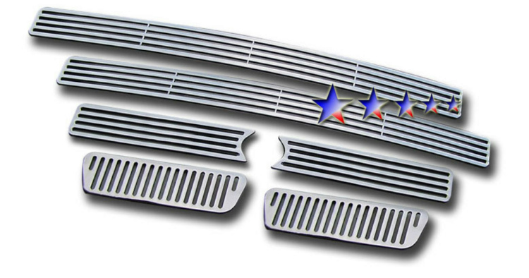 Ford Super Duty  2005-2007 Polished Main Upper Perimeter Grille