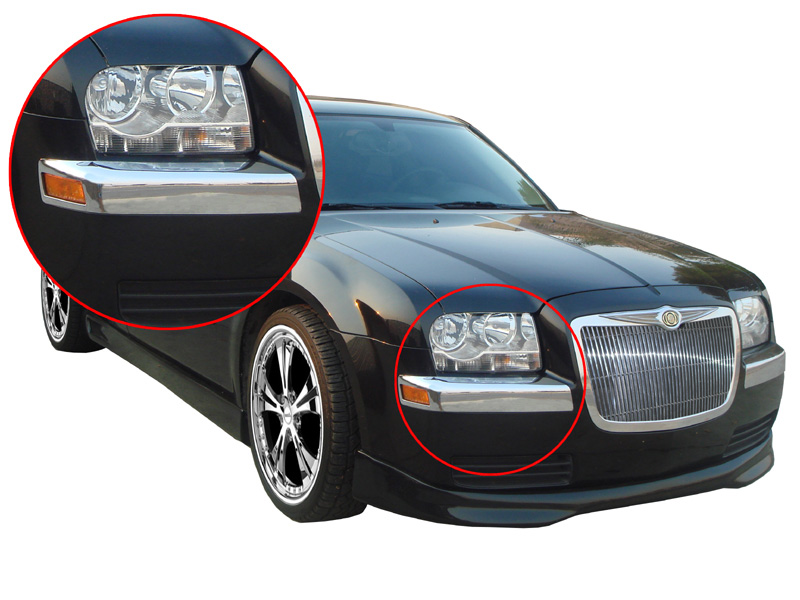 Chrysler 300 300C 05-06 Chrome Front Bumper Covers