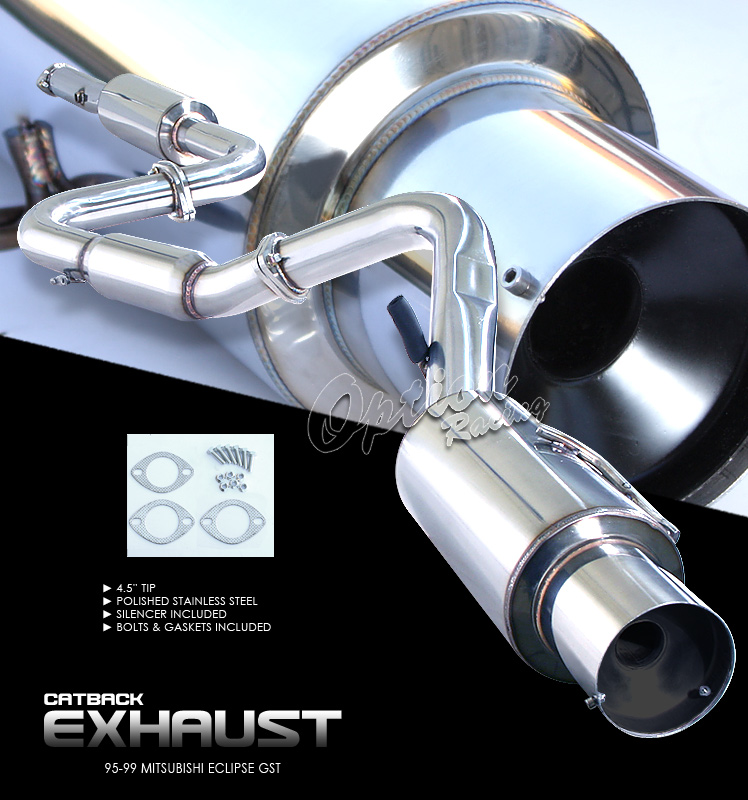 Mitsubishi Eclipse 1995-1999 Gst  Cat Back Exhaust System