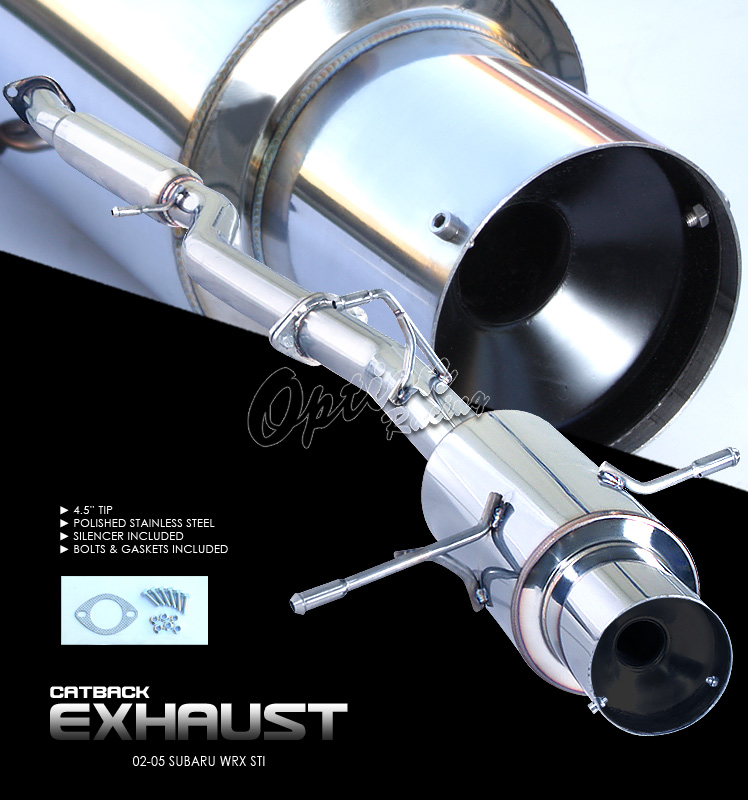 Subaru Impreza 2002-2005 WRX 2.0l  Cat Back Exhaust System