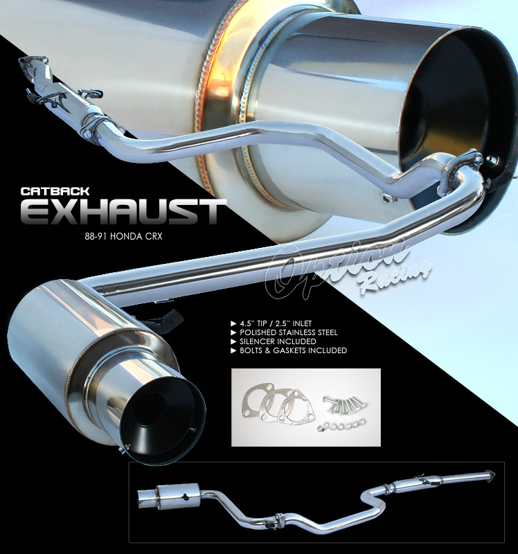 Honda CRX 1988-1991   Cat Back Exhaust System