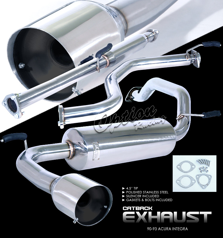 Acura Integra 1990-1993   Cat Back Exhaust System