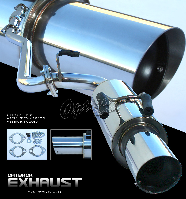 Toyota Corolla 1993-1997   Cat Back Exhaust System
