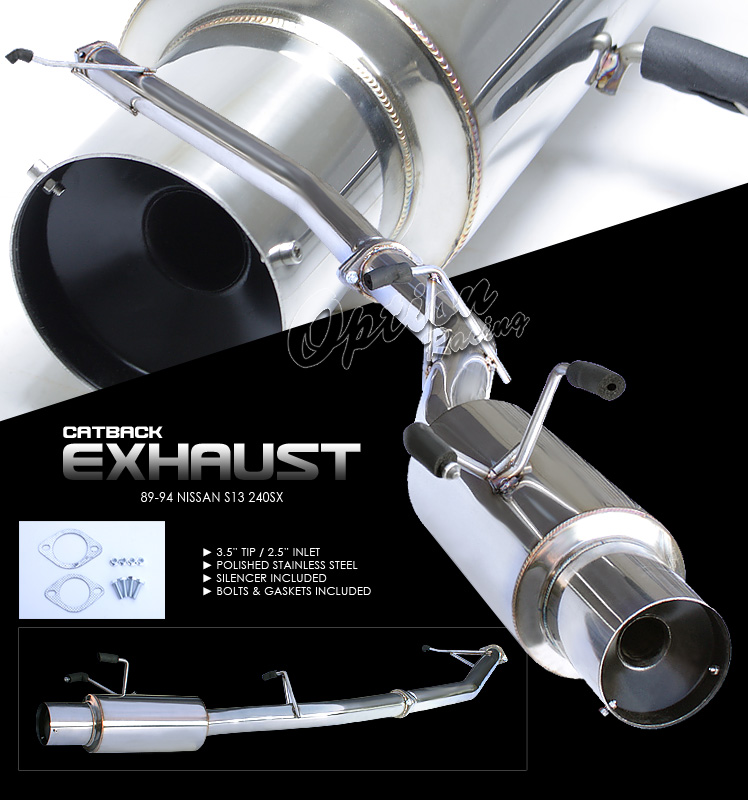 Nissan 240SX 1989-1994 S13  Cat Back Exhaust System