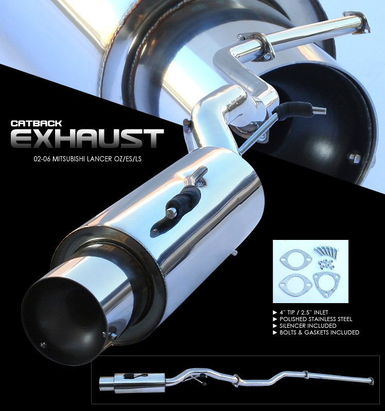 Mitsubishi Lancer 2002-2006 Oz, Es, Ls  Cat Back Exhaust System