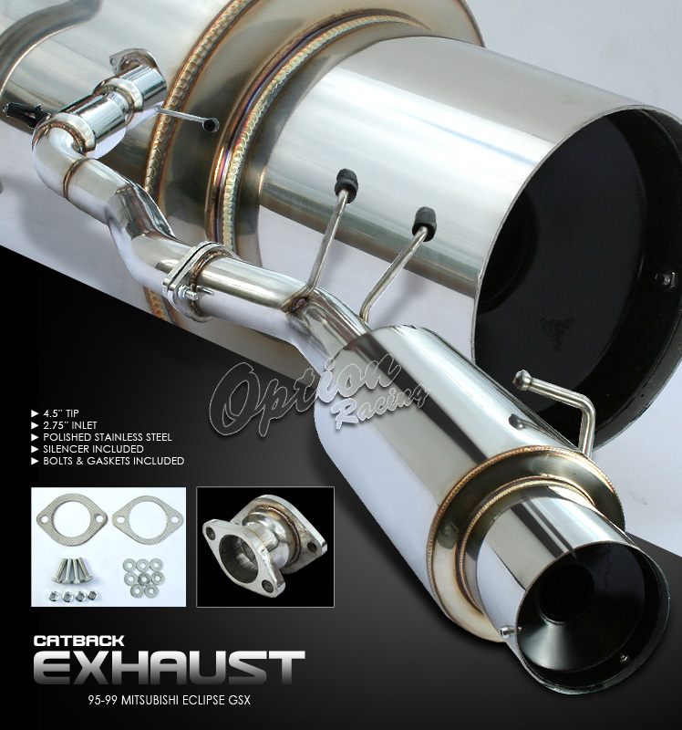 Mitsubishi Eclipse 1995-1999 Gsx  Cat Back Exhaust System