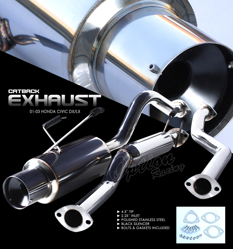 Honda Civic 2001-2003 Ex/Lx  Cat Back Exhaust System