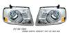 Ford F-150 04-06 Chrome Headlights W/ Halos