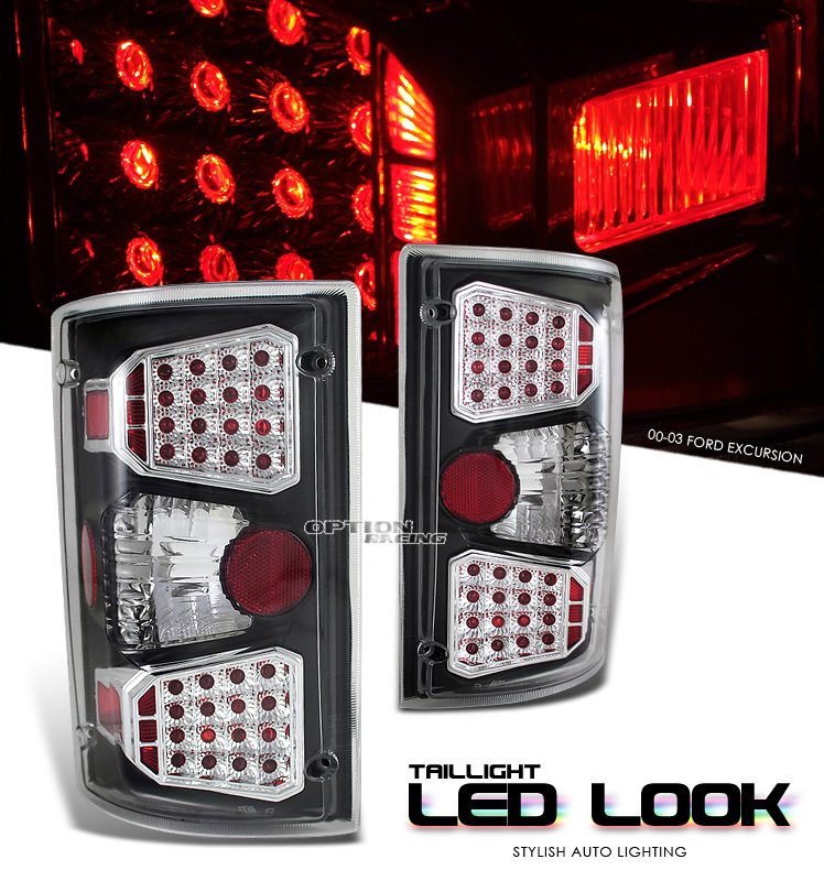 Ford Econoline 1995-2003  Chrome Euro Tail Lights