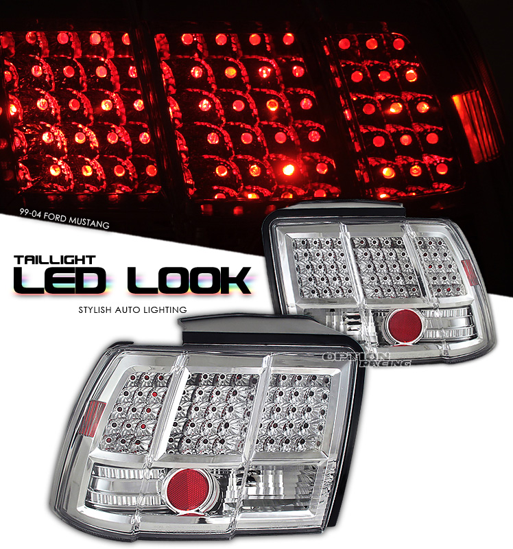Ford Mustang 1999-2004  Chrome Euro Tail Lights