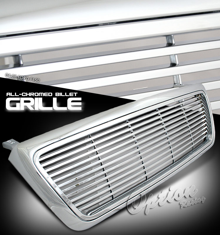Ford F150 2004-2008  Billet Style Chrome Front Grill