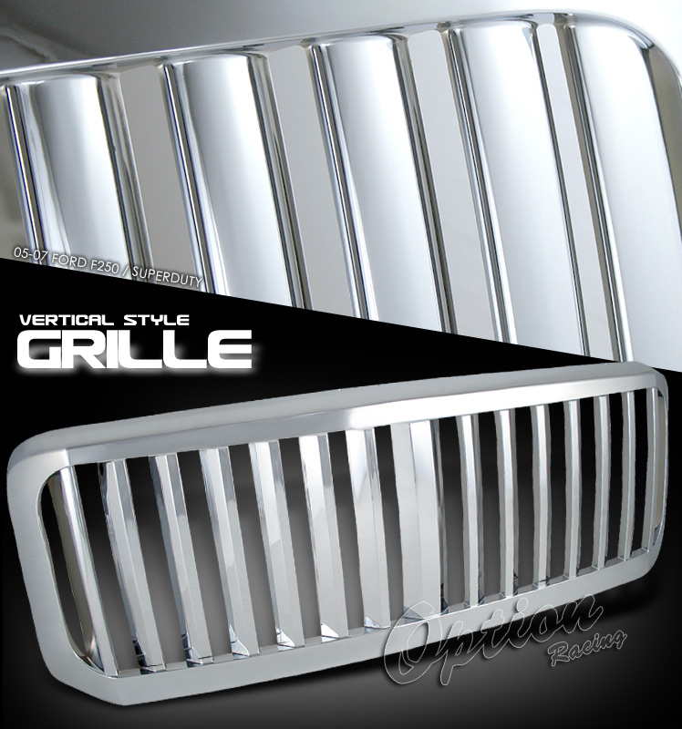 Ford Super Duty 2005-2007  Vertical Style Front Grill
