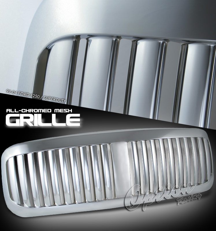 Ford Super Duty 1999-2004  Vertical Style Chrome Front Grill