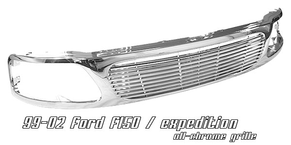 Ford Expedition 1999-2002  Billet Style Chrome Front Grill