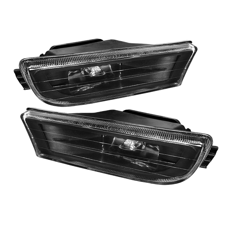 Bmw 7 Series 1995-2001 E38 Black Crystal Fog Lights  - (no Switch)