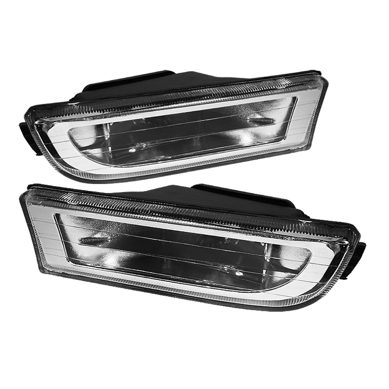 Bmw 7 Series 1995-2001 E38 Clear Crystal Fog Lights  - (no Switch)