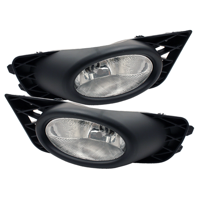 Honda Civic 2009-2010 4dr Clear Fog Lights