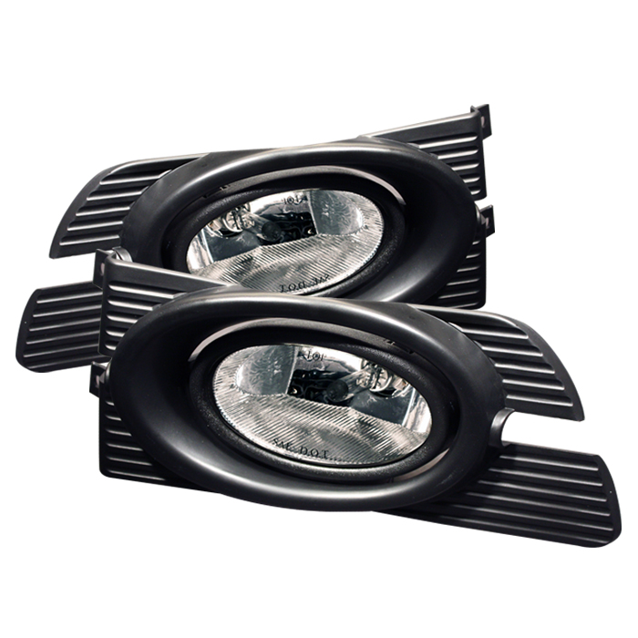 Honda Accord 2001-2002 4dr Clear Fog Lights