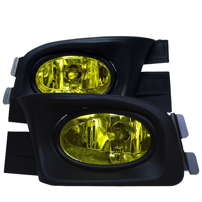 Honda Accord 2003-2005 4dr Yellow Fog Lights