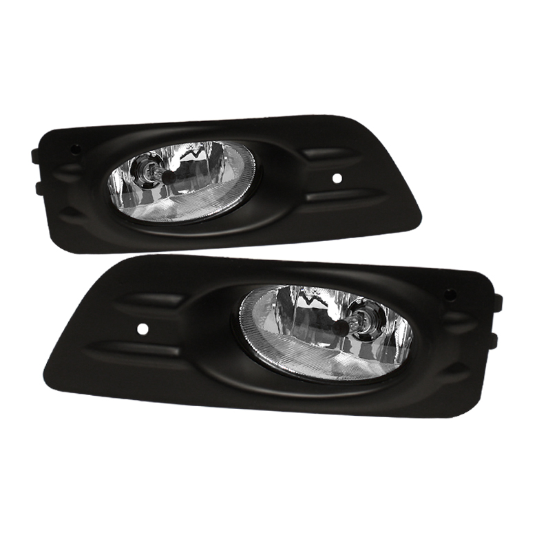 Honda Accord 2006-2007 4dr Clear Fog Lights