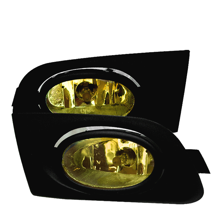 Honda Civic 2001-2003  Yellow Fog Lights