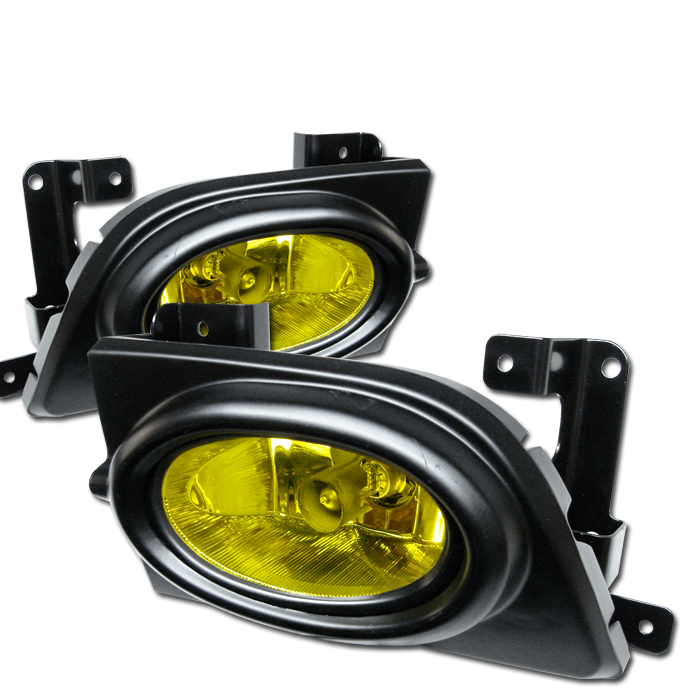 Honda Civic 2006-2007 4dr Yellow Fog Lights