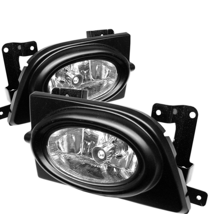Honda Civic 2006-2007 4dr Clear Fog Lights