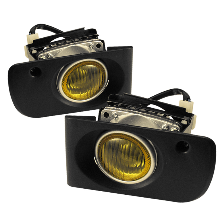Honda Civic 1992-1995 4dr Yellow Fog Lights
