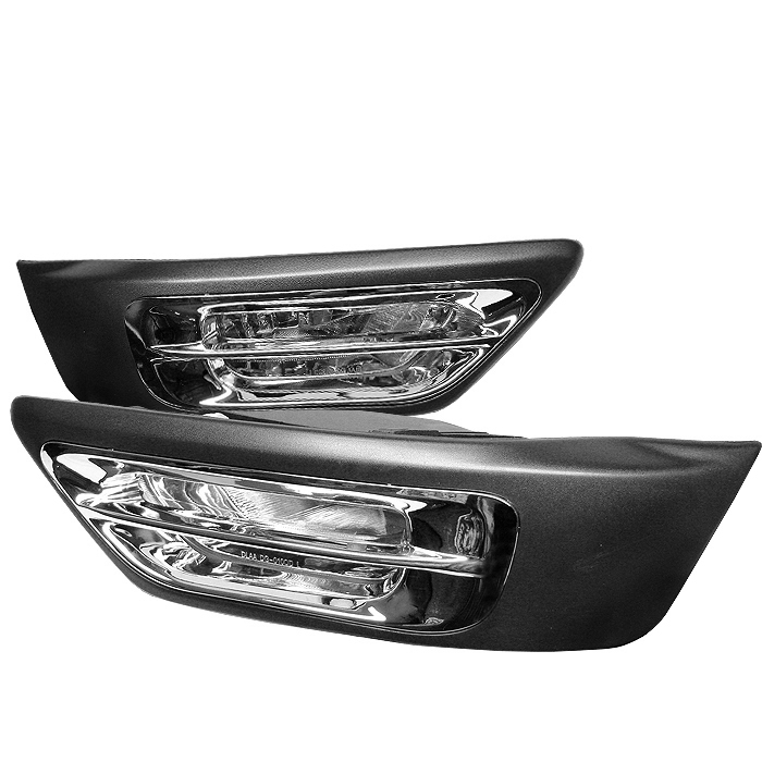 Honda Civic 2002-2004 W/cover Clear Fog Lights