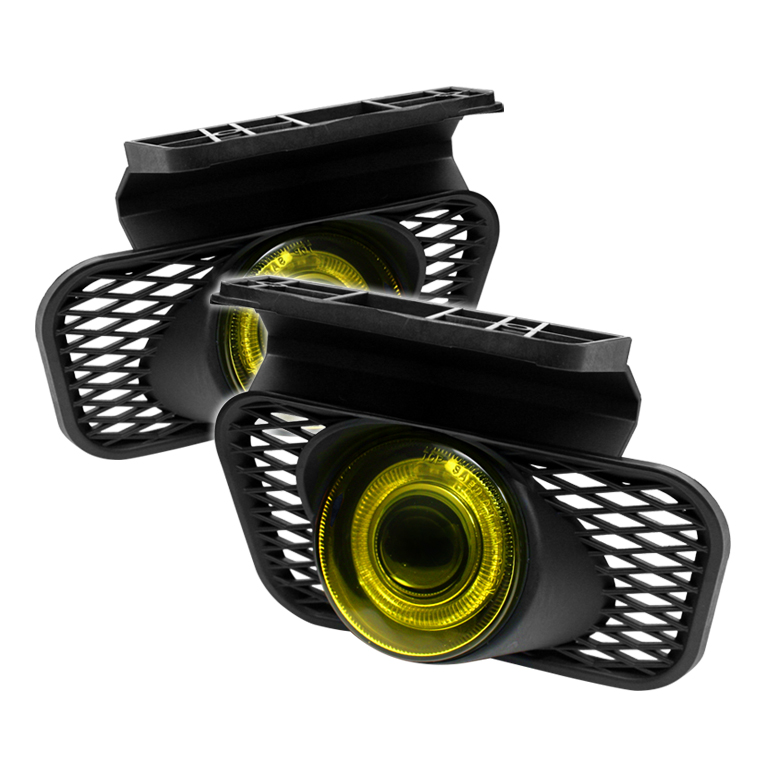 Chevrolet Avalanche 2002-2006  Yellow Halo Projector Fog Lights  -  (w/o Body Cladding)