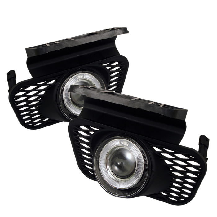Chevrolet Silverado 2003-2005  Clear  Halo Projector Fog Lights  -  (w/o Body Cladding)