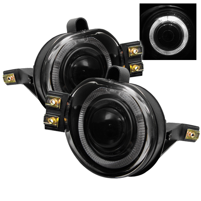 Dodge Ram 2002-2006  Smoke Halo Projector Fog Lights