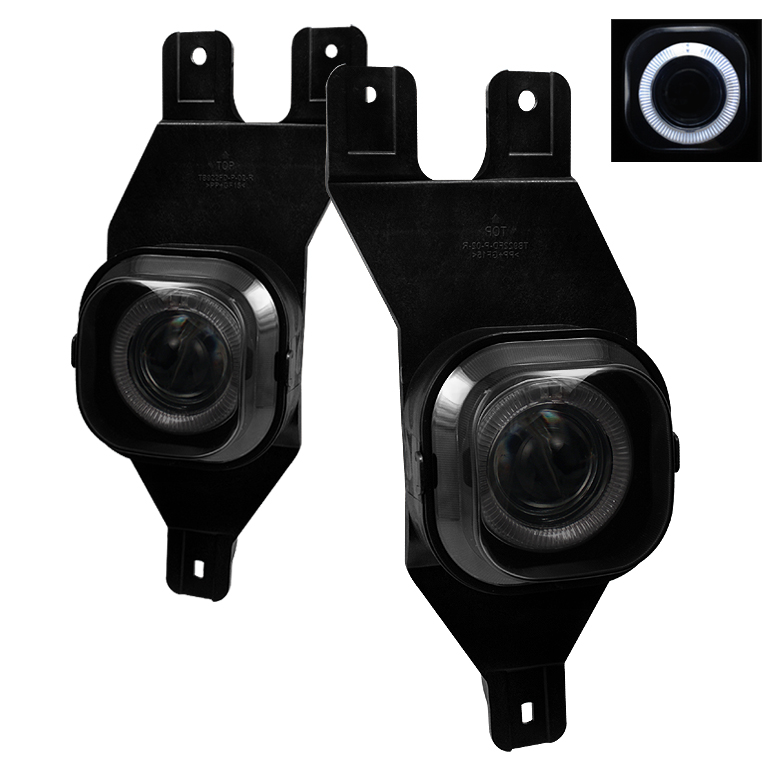 Ford Super Duty 2001-2004  Smoke Halo Projector Fog Lights